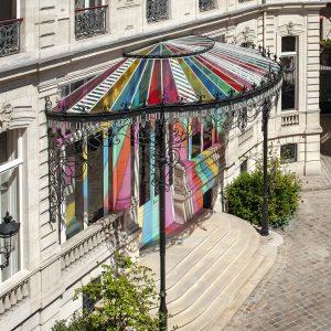 Le quartier de l'auberge de Jeunesse Adveniat Paris Centre Champs Elysées